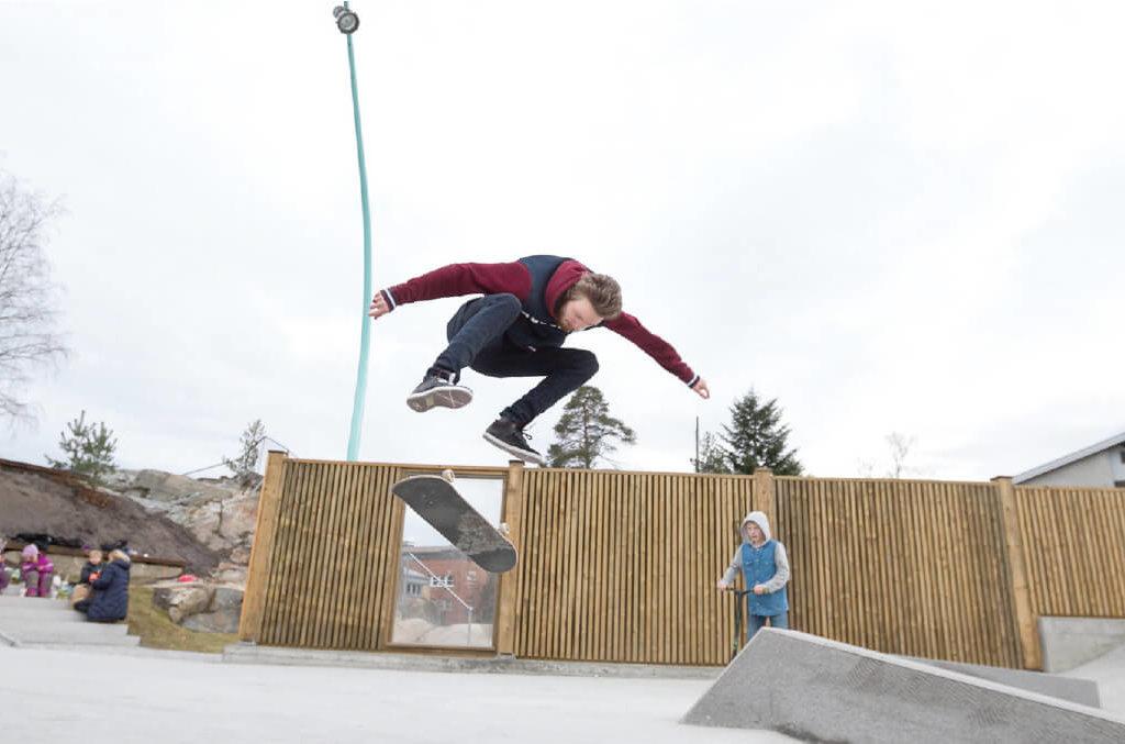 Betongskatepark i Kolbotn sentrum for Oppegård Kommune