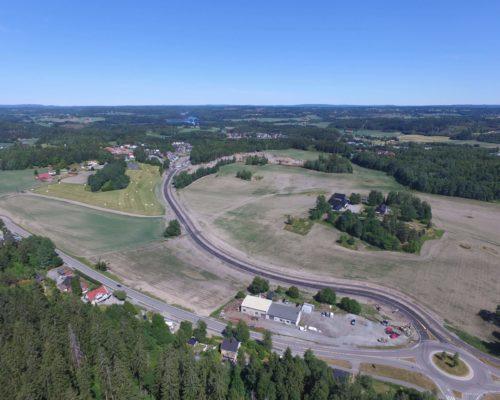 Dronebilde fra den store åpningsdagen.