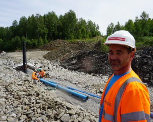 AL Arne Einar er godt fornøyd med prosjektresultatet, utførelsen og fremdriften, samt det gode samarbeidet med byggherre Askim Kommune. Bilde er fra en tidligere fase i prosjektet.