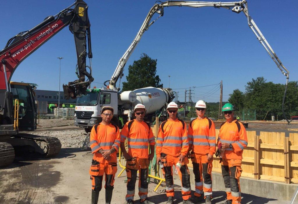 Park & Anlegg AS Bygger plasstøpte betong fundamenter for Exxon-Mobil – Esso!