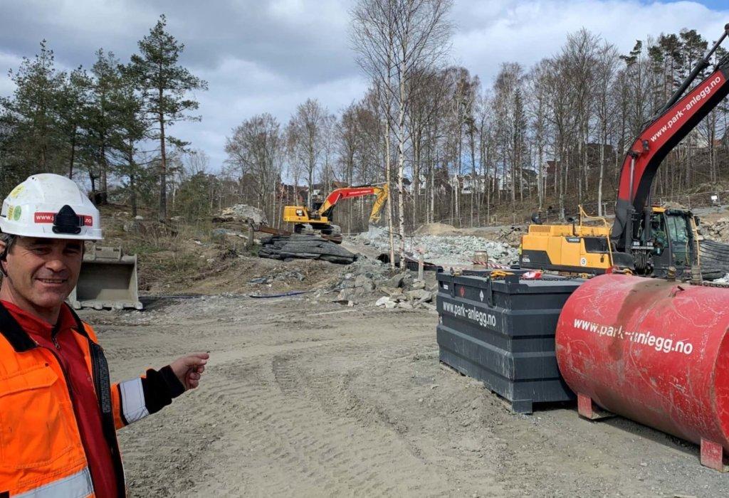 Grunnarbeidene på Sjøhagen Brygge i Moss er i gang