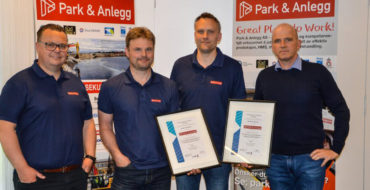 Park & Anlegg med ISO godkjenning innen kvalitet og miljø.