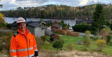 Park & Anlegg har etablert vann og avløp for hyttefelt i Aremark