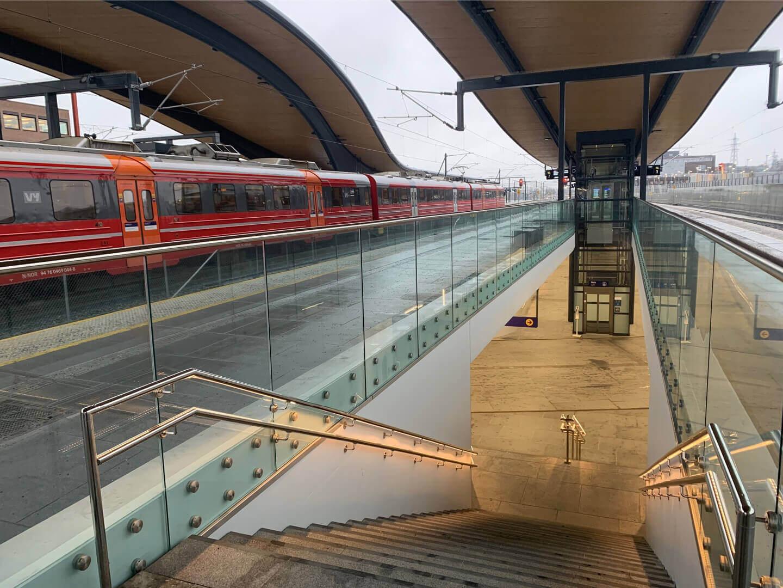 Ski stasjon tog